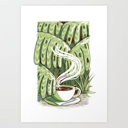 Rainforest Coffee Art Print