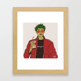 Modern Beast Boy Framed Art Print