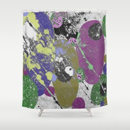 Gather Together - Abstract, pastel coloured, textured, artwork Shower Curtain