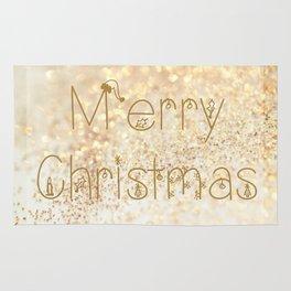 Christmas, rose gold glitter - Macro Photography #Society6 Rug