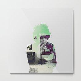 Bob Dylan Psychedelic Metal Print