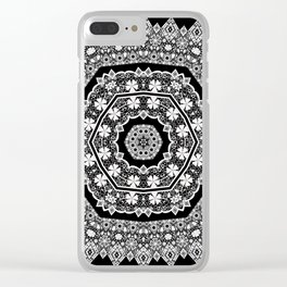 White , lace Clear iPhone Case