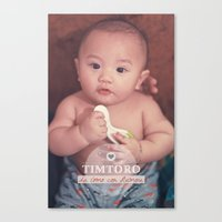 tim shumate Canvas Prints featuring Tim by Ben Nguyen