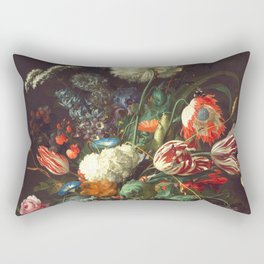 Vase of Flowers II - de Heem Rectangular Pillow