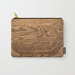 Wood 5, heavily grained wood Horizontal grain Carry-All Pouch