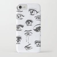 anime iPhone & iPod Cases featuring anime eyes by c a l m o c e a n s