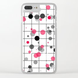 Spotted geometric pattern Clear iPhone Case