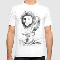 Lion Tree White Mens Fitted Tee MEDIUM