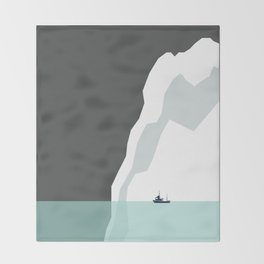 Feeling Small - Iceberg Throw Blanket