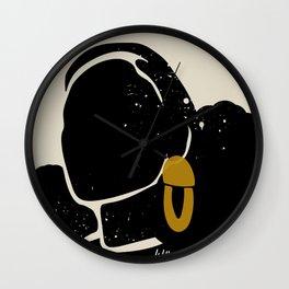 Black Hair No. 4 Wall Clock