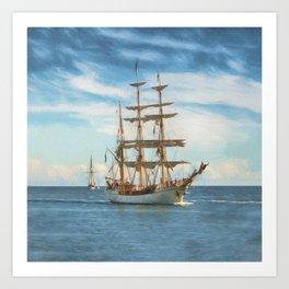 Sailing Grace Art Print