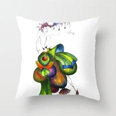 Green Aristocrats Throw Pillow