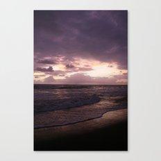 purple beach sunset, puerto vallarta Canvas Print