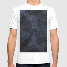 Antique World Star Map Navy Blue White MEDIUM Mens Fitted Tee