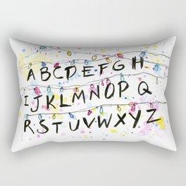 Alphabet Wall Christmas Lights Pattern Rectangular Pillow