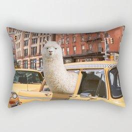 Alpaca in New York Rectangular Pillow