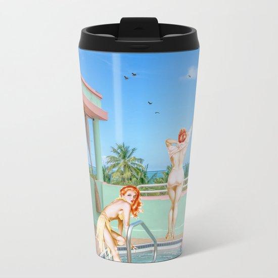 MIAMI BEACH Metal Travel Mug