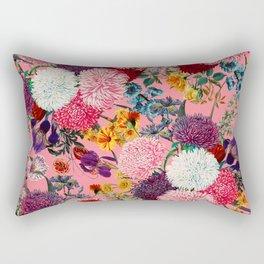Floral Pink Pattern Rectangular Pillow