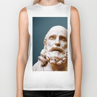 philosophy Biker Tanks featuring Philosophy of Pleasure by youngkinderhook