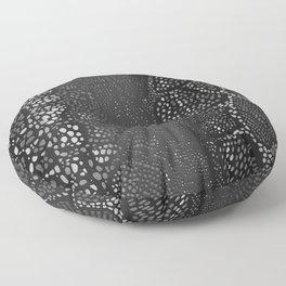 Black Snake Skin Floor Pillow