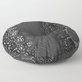 Black Snake Skin Floor Pillow