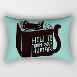 Cat Reader Advice Rectangular Pillow