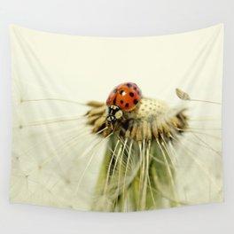 Dandelion Ladybugs Wall Tapestry