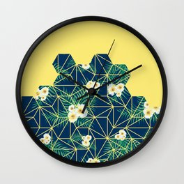 Tropical Tiles #society6 #decor #buyart Wall Clock