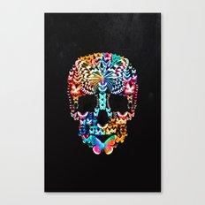 Cranium Butterflies (Black & Color Option) Canvas Print