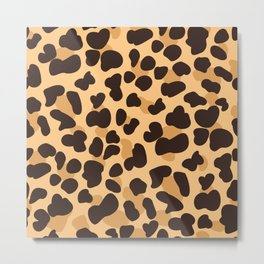Yellow cheetah print. Metal Print