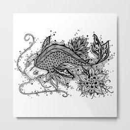 Zen Koi Metal Print
