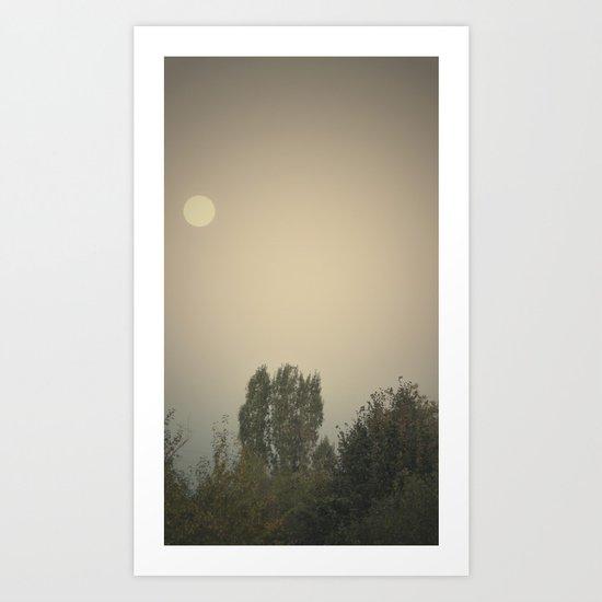the dry moon Art Print