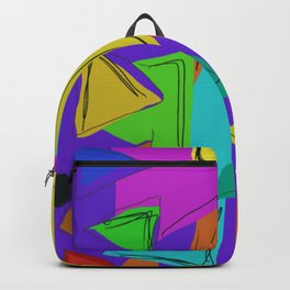 Cages at the Border #Abstract #Geometric #PoliticalArt Backpack