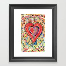 Jasper Heart Framed Art Print