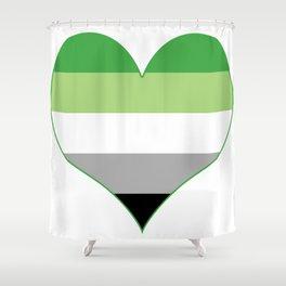 Aromantic Heart Shower Curtain