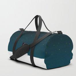 Star gazing - Penguin's dream of flying Duffle Bag