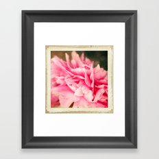 Pink crush Framed Art Print