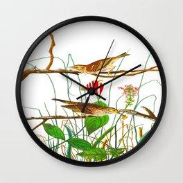 Savannah Finch Bird Wall Clock