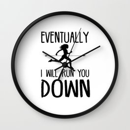 Cross Country Running Wall Clock