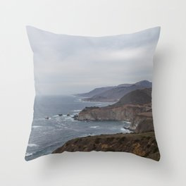 The Bixby Bridge on the California Coast Throw Pillow