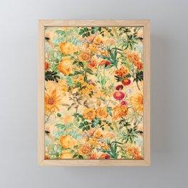 Vintage & Shabby Chic -  Sunny Gold Botanical Flowers Summer Day Framed Mini Art Print