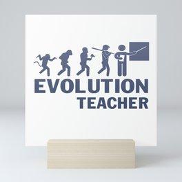 Evolution - Teacher Mini Art Print
