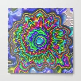gaudy colorful fantasy flower Metal Print