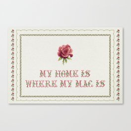 My Home Is - Vintage By Totalia Canvas Print