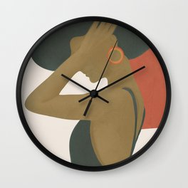 Lady in a Black Dress Wall Clock