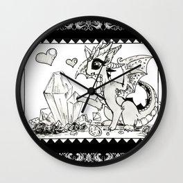 Rock-hunting dragoness (fantasy creatures) Wall Clock
