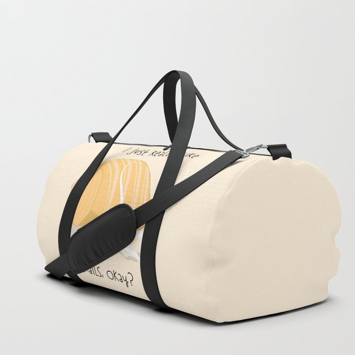 I Just Really Like Snails Gold Duffle Bag