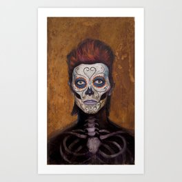 Bowie Day Of The Dead Art Print