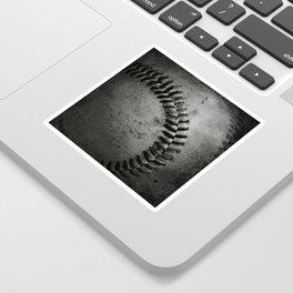 Black and white Baseball Sticker