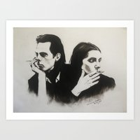 nick cave Art Prints featuring NICK CAVE by Bailey McNicol